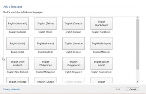 Select English (United States)