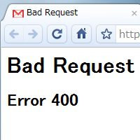Gmail Bad Request Error 400